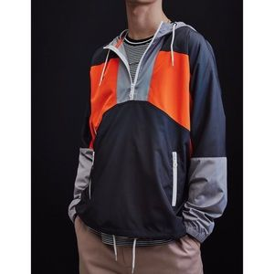 Urban Outfitters '90s Colorblocked Windbreaker